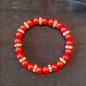Homemade Christmas bracelet
